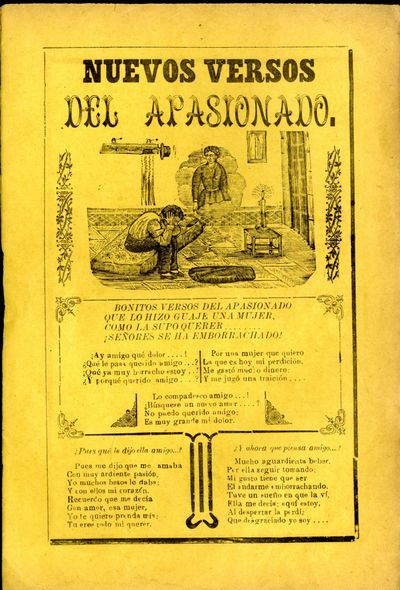 Mexico: A. V. Arroyo, 1911. Unbound. Very Good Condition. Broadside corrido, slight browning at edge...