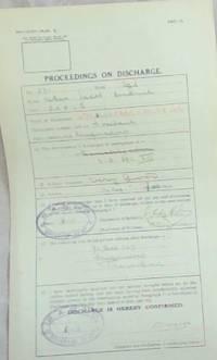 image of ORIGINAL DOCUMENT: PROCEEDINGS ON DISCHARGE WORLD WAR I CERTIFICATE