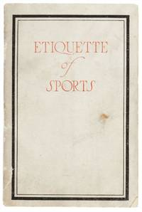 Etiquette of Sports.