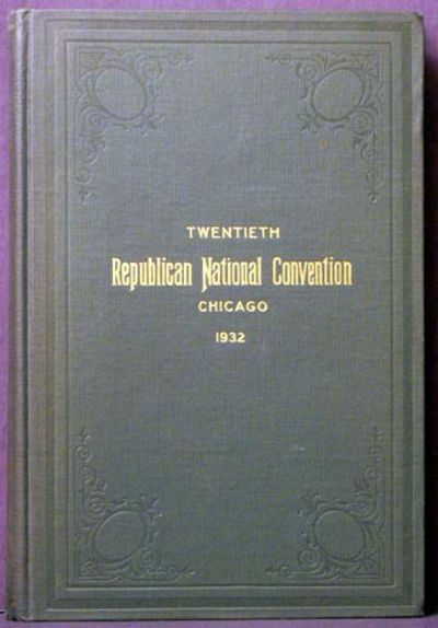 New York: The Tenny Press, 1932. Cloth. Collectible; Very Good. Resulting in the Renomination of Her...