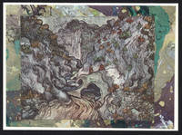 image of Ravine 1889 detail on a one-of-a-kind hand marbled paper composition presented on a blank note card, The.