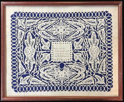 1830s Scherenschnitte Cutwork...