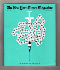 image of New York Times Magazine - June 14, 2020. Path to a Cure for Covid. Tech & Design Issue.  Covid; Remote Working; Vital Statistics Data Stream Research on Covid; Pandemic-Inspired Architecture