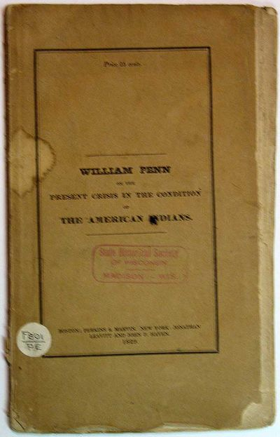 Boston: Perkins & Marvin, 1829. 1st separate appearance (American Imprints 38505; Howes E230; Sabin ...