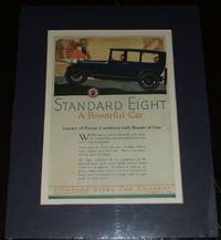 image of 1919 Full Page Color Automotive Ad for Standard Eight , Matted Ready to  Frame
