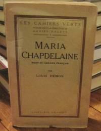 MARIA CHAPDELAINE: récit du canada français