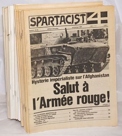 New York: Spartacist, 2017. Twenty one issues of French language edition of the Spartacist League's ...