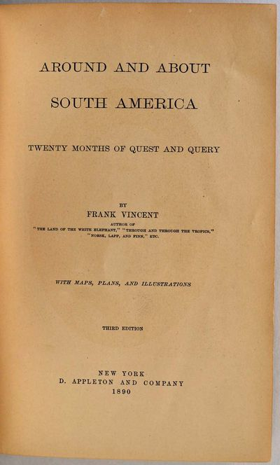 New York: D. Appleton and Company, 1890. Book. Very good condition. Hardcover. Third edition. Octavo...