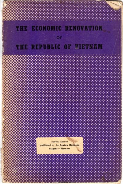 Saigon: Review Horizons, 1957. 8vo, pp. 20, ; 12 illustrations from photographs, 2 maps (1 double-pa...