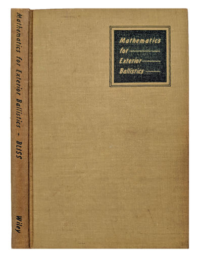 New York:: John Wiley, 1944., 1944. 8vo. vii, , 128 pp. 49 figs., 5 tables, index. Olive green-print...