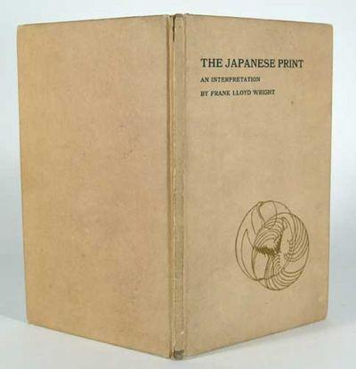 1912. WRIGHT, Frank Lloyd. THE JAPANESE PRINT. An Interpretation. Chicago: Ralph Fletcher Seymour Co...