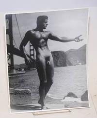 Photograph of Bob Delmonteque nude at Golden Gate Bridge
