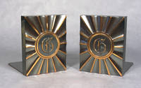 image of Vintage Coppered Monogram Bookends