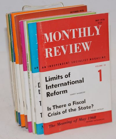 New York: Monthly Review, 1978. 11 issues, complete run for volume 30. All are 4.5 x 8.5 inches. #2 ...