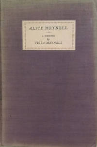 image of Alice Meynell:   A Memoir