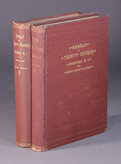 Newport: George C. Mason, 1891. Small 4to, pp. , 10-358; portrait frontispiece of Rev. James Honyman...