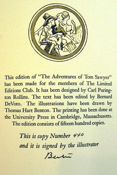 Cambridge: Limited Editions Club, 1939. Hardcover. Spine lightly sunned, as often the case. Near Fin...