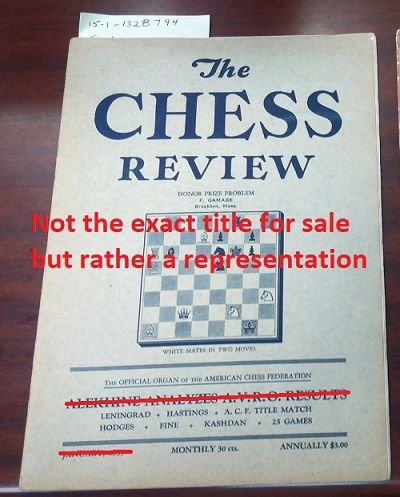 Woodside: Chess Review, 1936. Saddle-stitched. Octavo; G; Paperback; Spine, staple binding; Cover is...