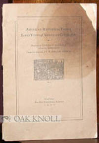 AMERICAN HISTORICAL PRINTS, EARLY VIEWS OF AMERICAN CITIES, ETC.
