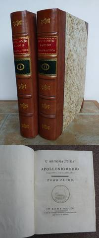 L'ARGONAUTICA DI APOLLONIO RODIO. by APOLLONIO RODIO. Apollonius of Rhodes.  Translated and edited by Cardinal Lodovico Flangini.: - First Edition - from Roger Middleton (SKU: 32614)