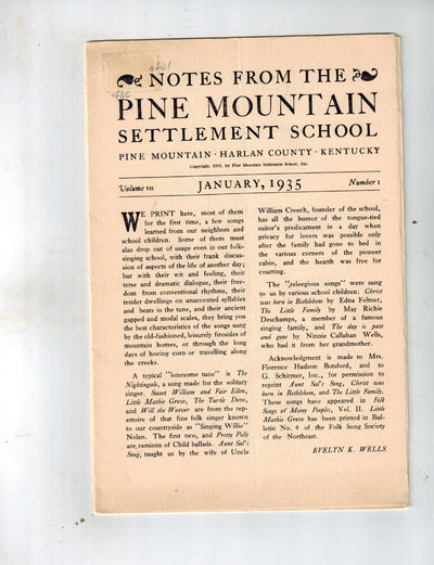 Harlan, KY: Pine Mountain Settlement School,, 1935. SCARCE. Both issues Near Fine, with vertical or ...