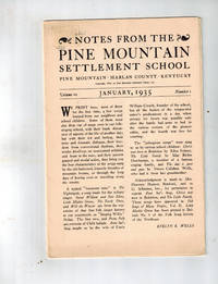 Notes from the Pine Mountain Settlement School, Pine Mountain, Harlan, Kentucky,  Vol. VII, Nos. 1 and 2, Jan. and Nov., 1935