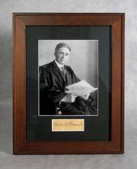 Supreme Court Justice Louis D. Brandeis Autograph, With Photo
