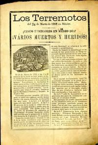 Los Terremotos del 26 de Marzo de 1909 en México