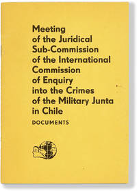 image of Meeting of the Juridical Sub-Commission of the International Commission of Enquiry into the Crimes of the Military Junta in Chile