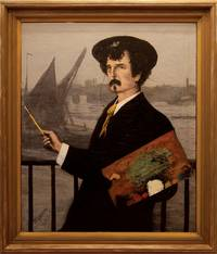 [Portrait of James Abbott McNeill Whistler in front of the Thames]