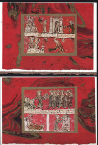 image of Ave Maria College student duties 2-Part Card on marbled paper compositions presented on blank note cards.
