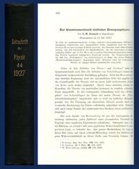 Zur quantenmechanik einfacher bewegungstypen in Zeitschrift für Physik, Volume 44, 1927. pp. 326-352 WITH Wechselwirkung neutraler Atome und homöopolare Bindung nach der Quantenmechanik Zeitschrift für Physik, Volume 44, 1927, pp. 455-473 [FULL VOLUME]
