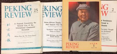 Peking: Peking Review, 1968. 133 issues of the weekly magazine, which was mailed folded so most issu...
