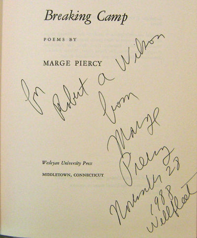 Middletown: Wesleyan University Press, 1968. First edition. Cloth. Fine/very good +. 8vo. 74 pp. A p...