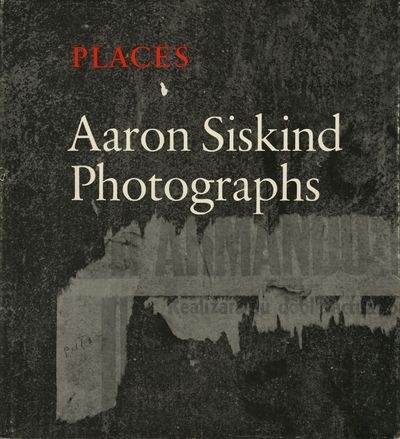 NY: Light Gallery and Farrar, Straus and Giroux, 1976. First edition. Siskind, Aaron. 4to., 112 pp.,...