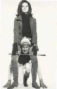 image of Original photograph of Diana Rigg and Patrick Macnee in a promotional test photograph for The Avengers, circa 1967