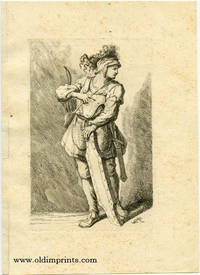 Untitled study of a male with bow and arrow, shield, and sword