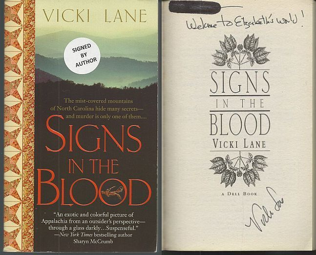 SIGNS IN THE BLOOD, Lane, Vicki