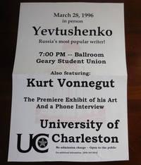 University of Charleston Poster Announcing an Event with Yevtushenko and Kurt Vonneguy