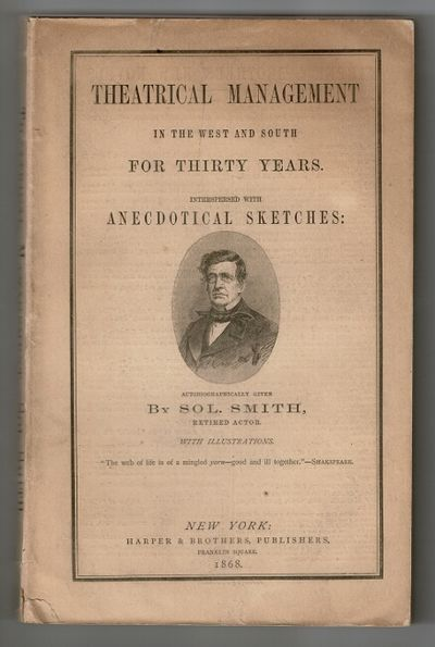 New York: Harper & Brothers, publishers, Franklin Square, 1868. 8vo, pp. viii, , 10- 275, , 4 (ads);...