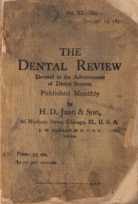The Dental Review: Devoted to the Advancement of Dental Science 3 Assorted  Copies-Jan, 1897: June, 1897 and April, 1899