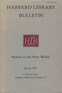 Nature in the New World (Harvard Library Bulletin, Vol XXXVI, No. 2, Spring 1988)
