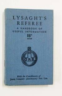 image of Lysaght's Referee A Handbook of Useful Information