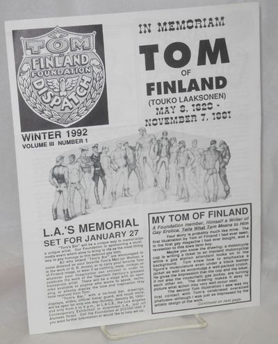 Los Angeles: Tom of Finland Foundation, 1992. 8.5x11 inches, photos, art reproductions, features, ne...