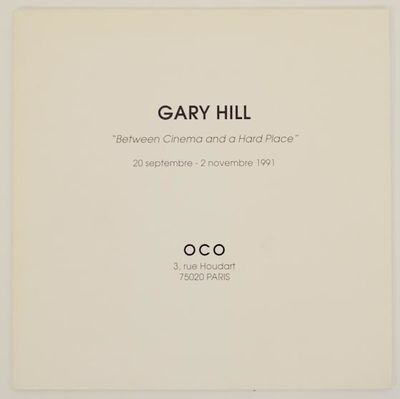 Paris: OCO, 1991. First edition. Exhibition brochure for a show that ran September 20 through Novemb...