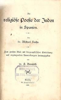 DIE RELIGIÖSE POESIE DER JUDEN IN SPANIEN