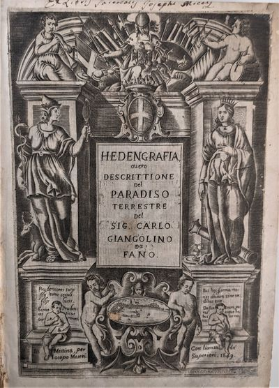 Messina: Jacopo Mattei, 1649. 4to. 275 x 195 mm., (10 ¾ x 7 ¾ inches). , 751, 17 pp. Illustrated w...