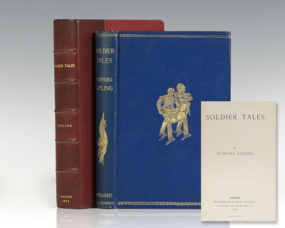London: Macmillan and Co., Ltd, 1896. First edition of Kipling's collection of soldier tales. Octavo...