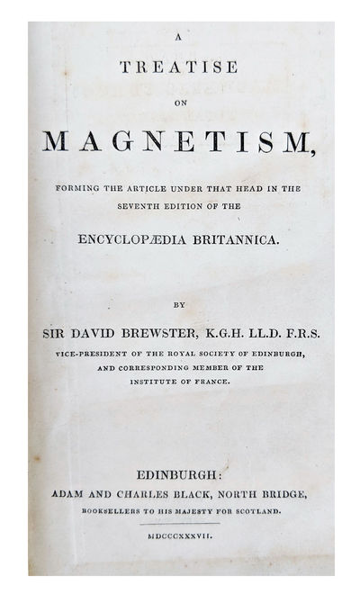 Edinburgh:: Adam and Charles Black, 1837., 1837. Tall 12mo. viii, 365, pp. Frontis. folding map, 106...