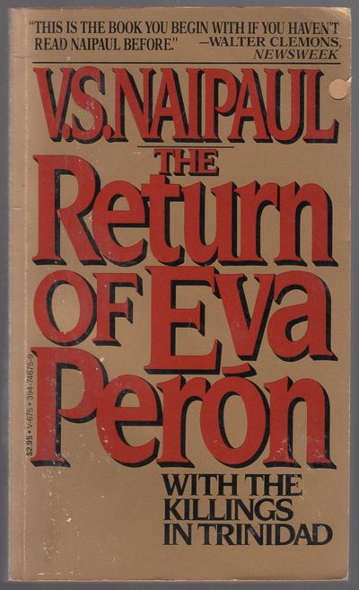 New York: Vintage Books, 1981. Softcover. Very Good. Reprint. 245pp. Mass market paperback. Age-tone...